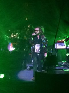 "Jim James sings the opening lyrics of ""Victory Dance"" at Red Rocks."