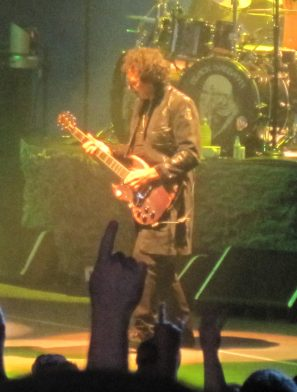 Tony Iommi performs at DTE Energy Music Theater in August 2013.